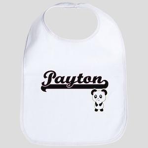 Payton Classic Retro Name Design with Panda Bib