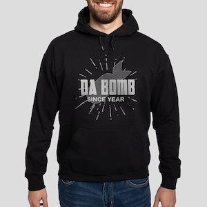 Personalized Birthday The Da Bomb Hoodie (dark)