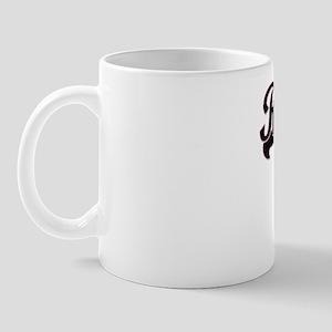 Raegan Classic Retro Name Design with P Mug