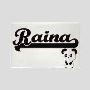 Raina Classic Retro Name Design with Panda Magnets