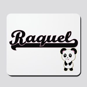 Raquel Classic Retro Name Design with Pa Mousepad
