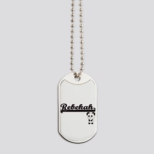 Rebekah Classic Retro Name Design with Pa Dog Tags