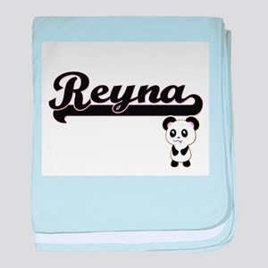 Reyna Classic Retro Name Design with baby blanket