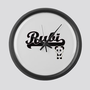 Rubi Classic Retro Name Design wi Large Wall Clock