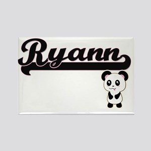 Ryann Classic Retro Name Design with Panda Magnets