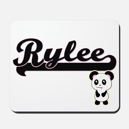 Rylee Classic Retro Name Design with Pan Mousepad