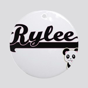Rylee Classic Retro Name Design w Ornament (Round)