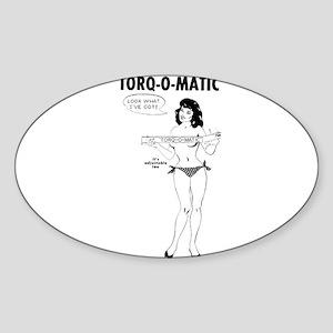 Torq O Matic Topless Pinup Girl Sticker