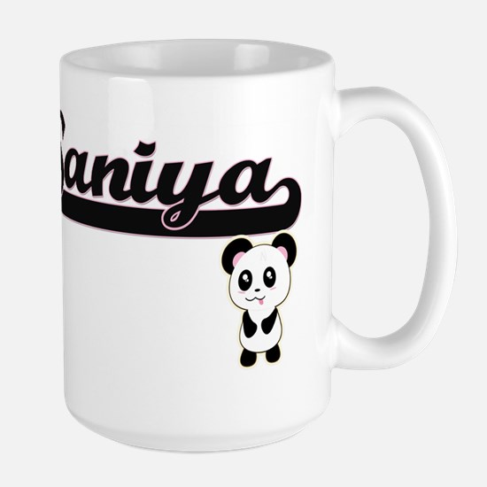Saniya Classic Retro Name Design with Panda Mugs