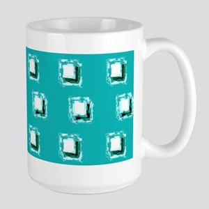 Teal Squares Marguerite's Fave Mugs
