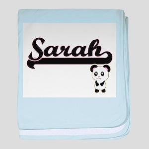 Sarah Classic Retro Name Design with baby blanket