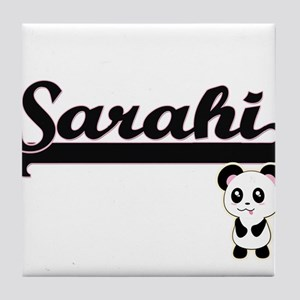 Sarahi Classic Retro Name Design with Tile Coaster