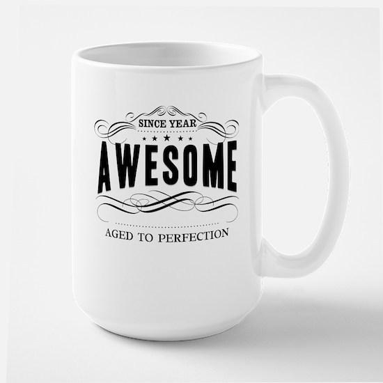 Personalized Birthday Aged To Perfectio Large Mug