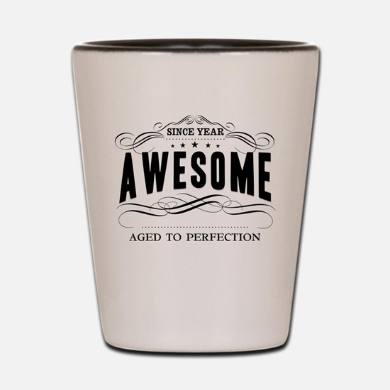 Personalized Birthday Aged To Perfectio Shot Glass