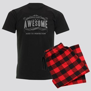 Personalized Birthday Aged To Men's Dark Pajamas