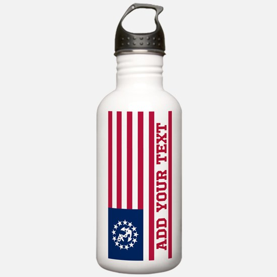 Personalized American Yacht Flag Water Bottle