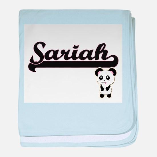 Sariah Classic Retro Name Design with baby blanket