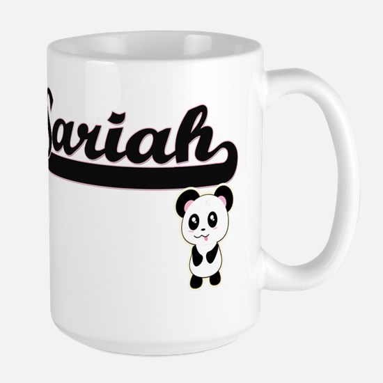 Sariah Classic Retro Name Design with Panda Mugs