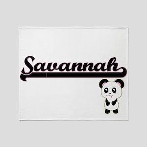 Savannah Classic Retro Name Design w Throw Blanket