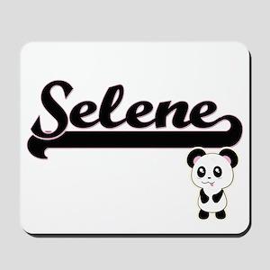 Selene Classic Retro Name Design with Pa Mousepad