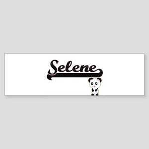Selene Classic Retro Name Design wi Bumper Sticker