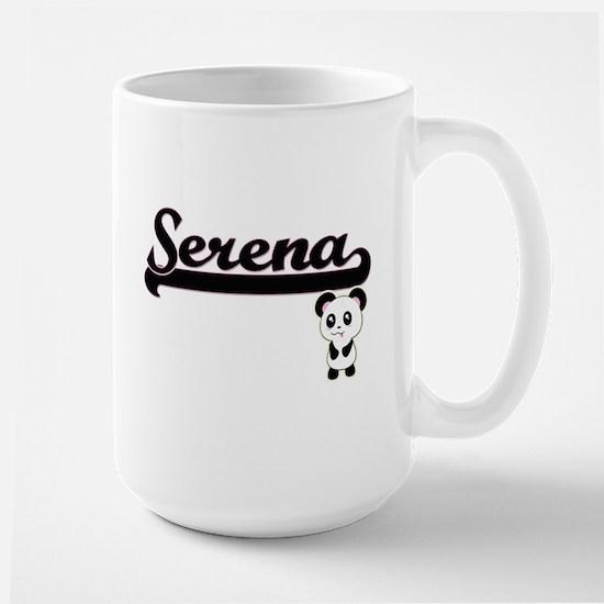 Serena Classic Retro Name Design with Panda Mugs