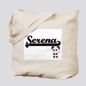 Serena Classic Retro Name Design with Pan Tote Bag