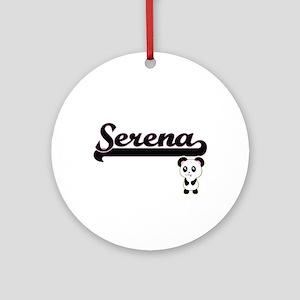 Serena Classic Retro Name Design Ornament (Round)