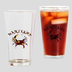 Maryland Flag Crab Drinking Glass