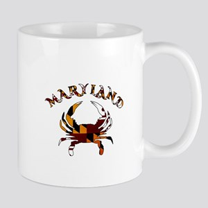 Maryland Flag Crab Mugs