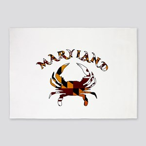 Maryland Flag Crab 5'x7'area Rug