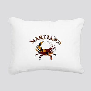 Maryland Flag Crab Rectangular Canvas Pillow