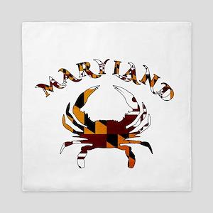 Maryland Flag Crab Queen Duvet