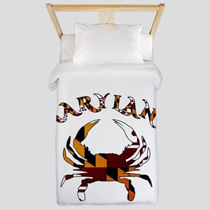 Maryland Flag Crab Twin Duvet