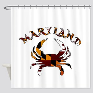Maryland Flag Crab Shower Curtain