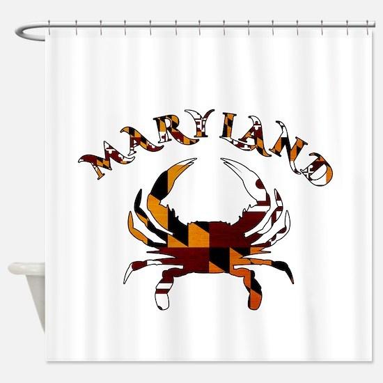 Maryland Flag Crab Shower Curtain
