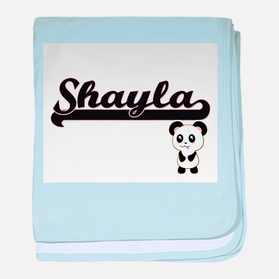 Shayla Classic Retro Name Design with baby blanket