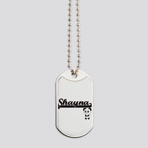 Shayna Classic Retro Name Design with Pan Dog Tags