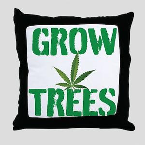 GROW TREES Throw Pillow