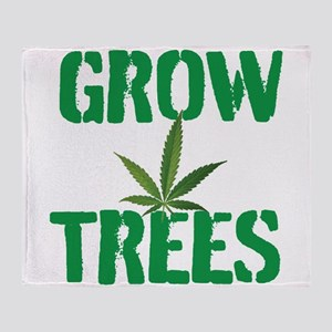 GROW TREES Throw Blanket