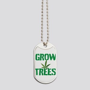 GROW TREES Dog Tags