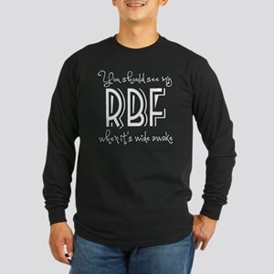 Resting Bitchy Face Long Sleeve Dark T-Shirt