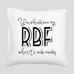 Resting Bitchy Face Square Canvas Pillow