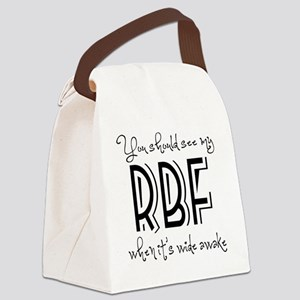 Resting Bitchy Face Canvas Lunch Bag