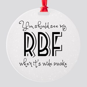 Resting Bitchy Face Round Ornament