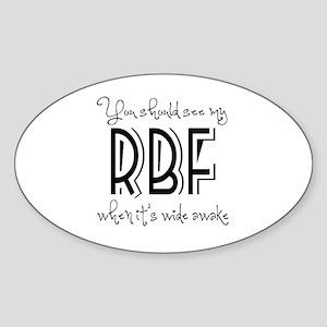 Resting Bitchy Face Sticker (Oval)