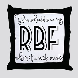 Resting Bitchy Face Throw Pillow