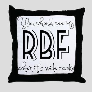 Resting Bitchy Face Throw Pillow