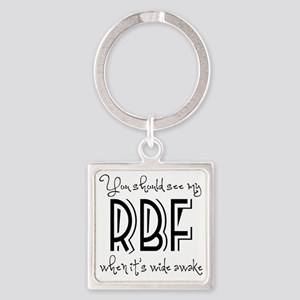 Resting Bitchy Face Square Keychain