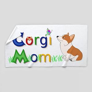Corgi Mom Beach Towel
